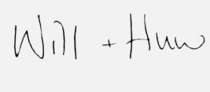 Will & Huw Signature